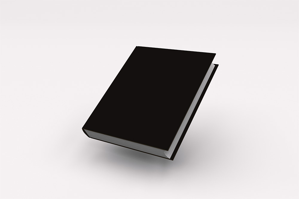 Floating Hardcover with Clean Background